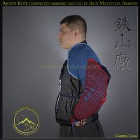 Aigote Kote (connected armored sleeves) by Iron Mountain Armory