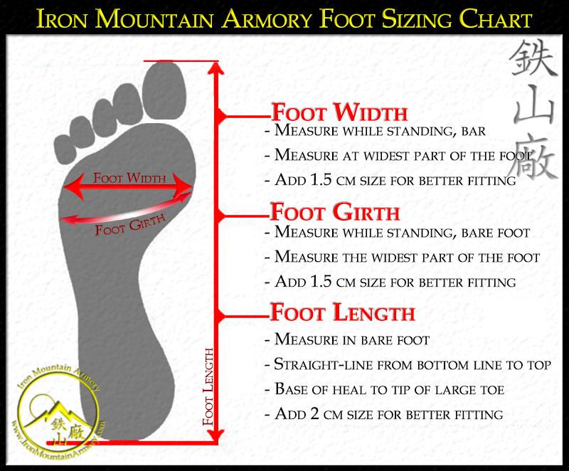 Wajari sandal sizing instructions