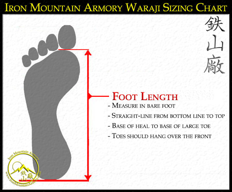 Wajari sandal sizing instructions