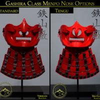 Gashira Class Menpo Nose Options