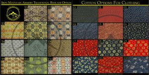 Clothing Material Options