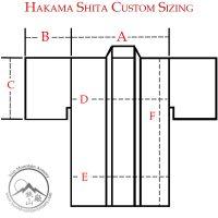 Custom Hakama Shita Sizing Chart