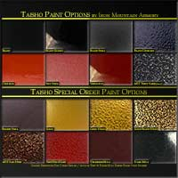 Taisho Yoroi Paint Options by Iron Mountain Armory