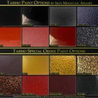 Taisho Yoroi Paint Options by Iron Mountain Armory