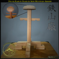 Deluxe Kabuto Display Stand by Iron Mountain Armory