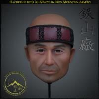 Iki ningyo - life like head stand for helmets, by Iron Mountain Armory