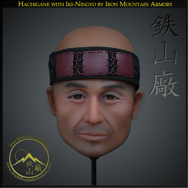 Iki ningyo - life like head stand for helmets, by Iron Mountain Armory