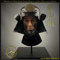 Okitenugui Nari Saiga Kabuto Iki-Ningyo Head Stand by Iron Mountain Armory