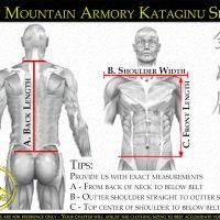 Kataginu / Kamishimo Sizing Instructions