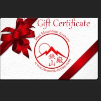 Gift Certificate for Samurai Armor and Accessories by Iron Mountain Armory