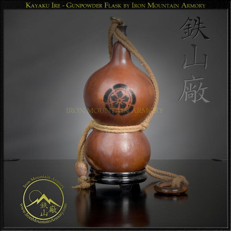 Kayaku Ire Gunpowder Flask by Iron Mountain Armory