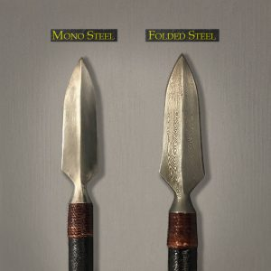 Differences between Mono Steel and Folded Steel Samurai Arrowheads by Iron Mountain Armory