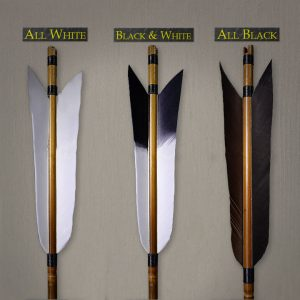 Fletched Arrow Feather Dye Option for Traditional Samurai Arrows