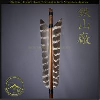 Ya - Samurai Arrow Head with Natural Turkey Feathers