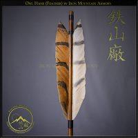 Ya - Samurai Arrow Head with Natural Owl Feathers