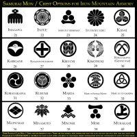 Samurai Mon Crest Options by Iron Mountain Armory