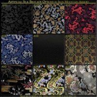 Art Silk Brocade Options for Samurai Armor, Yoroi and Clothing
